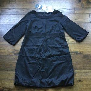NWT Marina Rinaldi Black Long Sleeve Bubble Dress